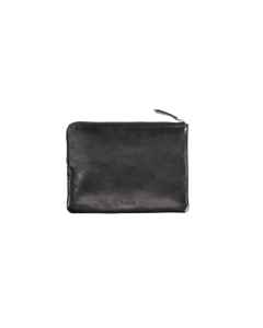 Zip Pouch Black Leather