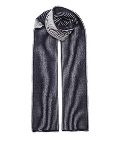 Ribbed Scarf Blue