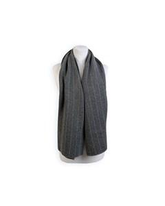 Loro Piana Vintage Gray Striped Cashmere >reversible Scarf
