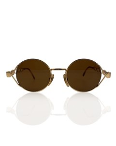 Moschino By Persol Vintage Gold Round Unisex Mint Sunglasses Mod Mm264