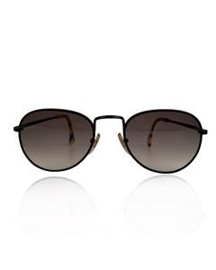 Alain Mikli Black Metal Mint Unisex Round Sunglasses Mod Am 89 651 393