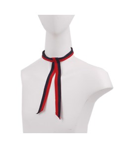 Gucci Web Grosgrain Neck Bow Red