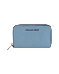 Michael Kors Blue Saffiano Leather Jet Set Travel Phone Wallet
