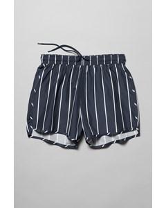 Tan Stripe Swim Shorts Blue