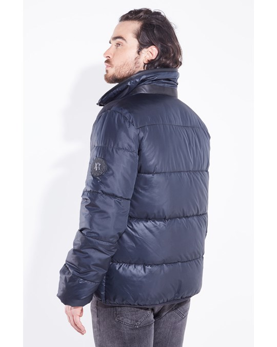 American Five Quilted Down Jacket Baker Navy Blue