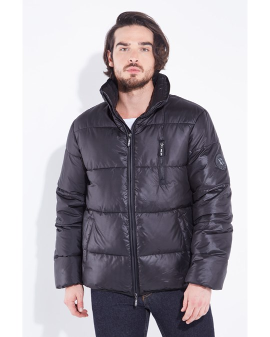 American Five Quilted Down Jacket Baker Black