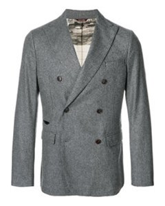 Double Breasted Blazer  Grey