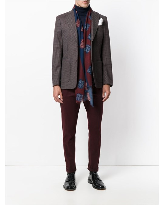 Al Duca D'aosta 1902 Checked Blazer Dark Red/brown/beige