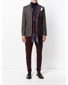 Checked Blazer Dark Red/brown/beige