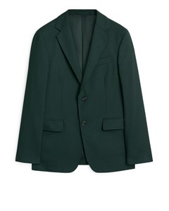 Modern Blazer Hopsack Dark Green