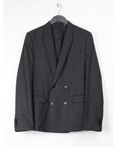 Melange Flannel Blazer 3 Grey