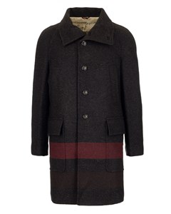 Classic Fitted Striped Coat  Brown/red/grey