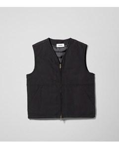 Emanuel Canvas Vest Black