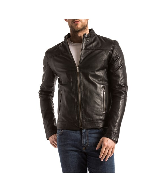 Blue Wellford Blue Wellford - Leather Jacket - Man