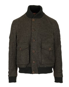 Checked Bomber  Olive Checked Green