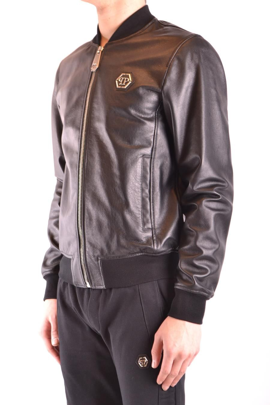 Philipp Plein Men's Leather Outerwear Jacket bis zu 70