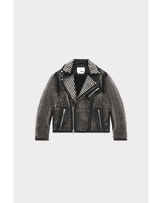 Nyden Moto Jacket All Over Studs Black
