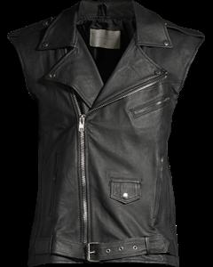 Men's Biker Vest Black