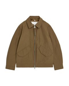 Water-repellent Harrington Jacket Brown