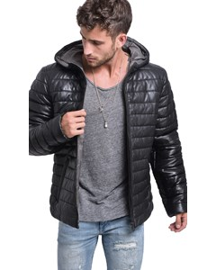 Action Leather Down Jacket
