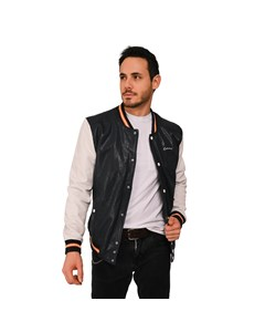 Academy Leather Teddy Jacket Academy