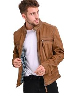 Castel Zipped Leather Jacket Castel