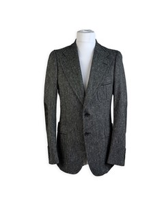 Gucci Gray Wool Blend Men Blazer Jacket Size 46