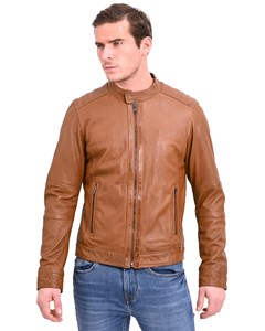Biker-style Leather Jacket