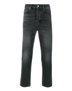 Washed Straight-leg Jeans  Grey