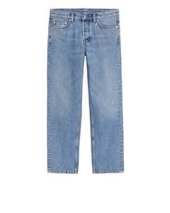 Regular Cropped Jeans Blue