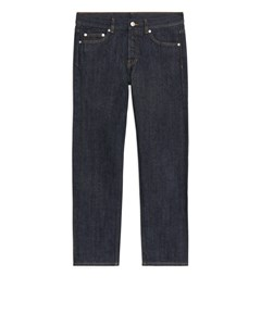 Regular Cropped Selvedge Jeans Dark Blue