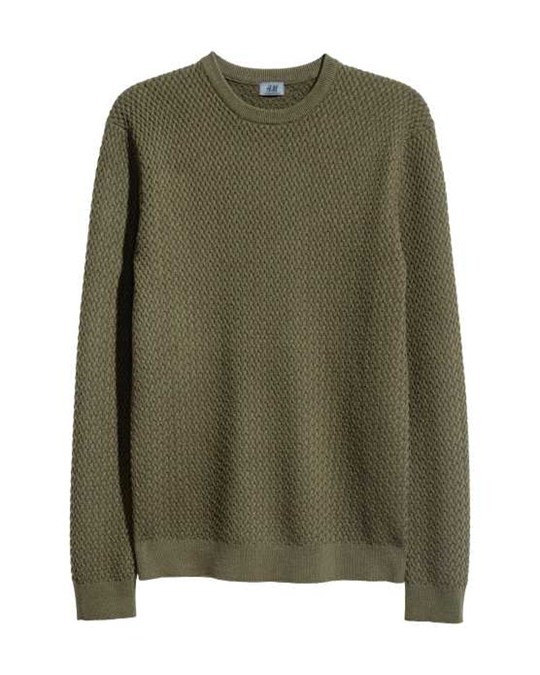 H&M Cotton-blend Jumper Green