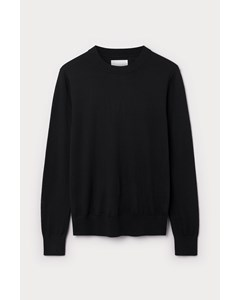 Slim Crewneck Sweater Black