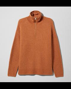 Bubble Zip Sweater Orange