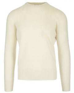 Shetland Wool Crewneck Jumper White