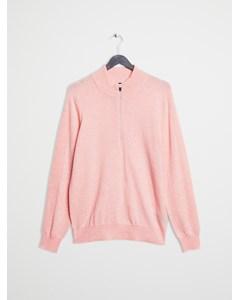 Merino 1/4 Zip Sweater Pink-rose