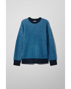 Ryan Two- Toned Sweater Blue