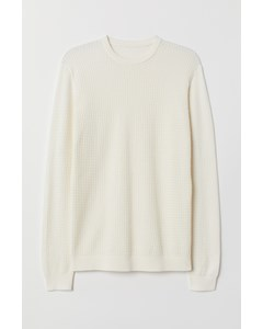 Keller Round Neck Jumper White