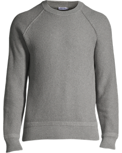 M.cotton R-neck Sweater Grey Mel.