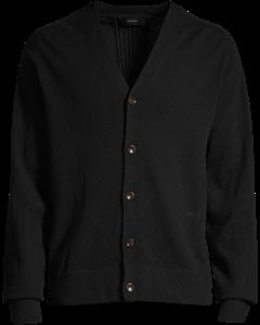 Cashmere V-neck Buttoned Cardigan Black