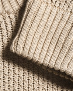 M. Honeycomb Knit Sweater Sand Paper