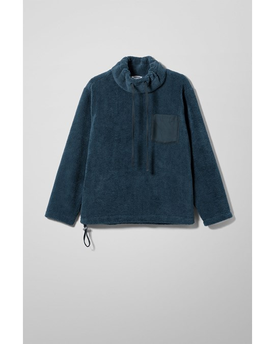 Weekday Abe Funnel Neck Sweater Blue