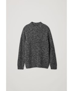 Speckled Chunky-knit Jumper Black / White