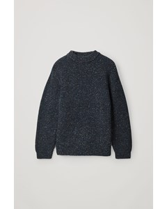 Speckled Chunky-knit Jumper Blue / Red / Green