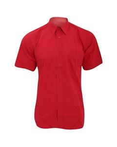 Fruit Of The Loom Mens Short Sleeve Poplin Shirt