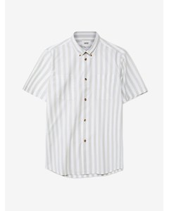 Nima S/s Stripe Shirt Relaxed Fitlight Turquoise