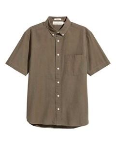 Kortärmad Skjorta Regular Fit  Khaki
