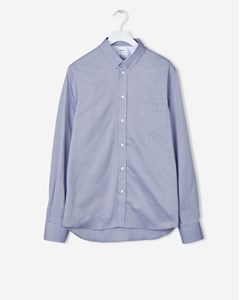 Pierre Light Oxford Shirt Aquatic Melange