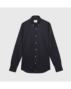 Garment Dyed Twill Shirt Button Down Navy