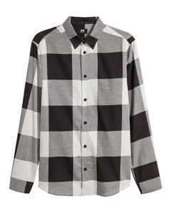 Bankcheck Flannel Shirt Grey